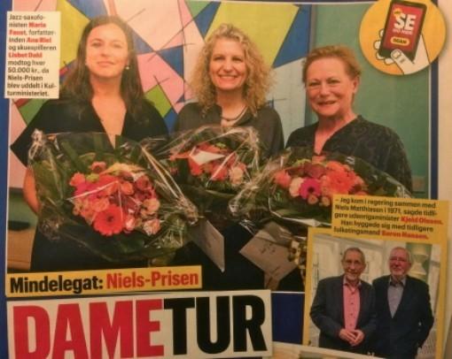 Om Niels-prismodtager (sammen med Maria Faust og Lisbet Dahl)